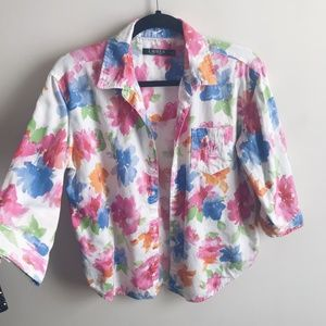 Ralph Lauren Colorful Floral Button Down